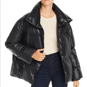 Bagatelle oversized faux leather Puffer jacket SZS